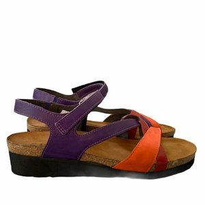 NAOT 'Sophia'  Multicolor Leather Straps Sandals 8